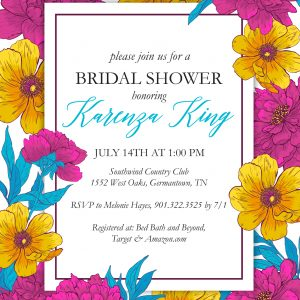 Violet Bridal Shower Invitation