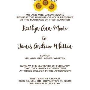 Sun Flower Wedding Invitation