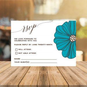 Teal RSVP Card